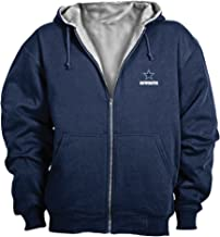 Dallas Cowboys Jacket: Navy Reebok Hooded Craftsman Jacket