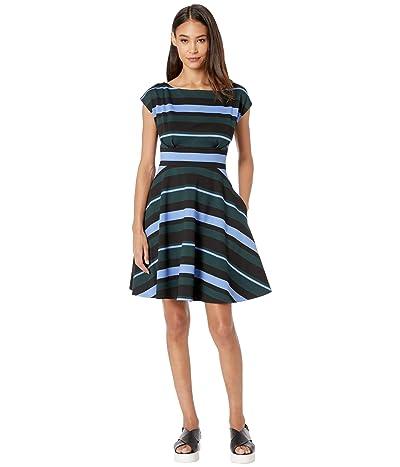 Kate Spade New York Stripe Fiorella Dress (Pine Forest) Women