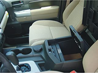 Console Vault Toyota Tundra 2007-2013 Floor Safe - 1013 - Massive 12 Gauge Cold Rolled Plate Steel, Welded Tab And Notch Seams - Superior 3 Point Locking System Resists Prying - Drill Resistant Locks - Easy 10 Minute Installation