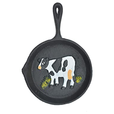 Import Wholesales Cast Iron Skillet Wall Hanging Holstein Dairy Cow Frying Pan Decor 7.75  Long