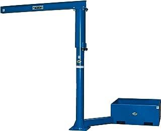1000 lb Capacity Vestil JIB-P-10-6-10 Steel Multi Station Transportable Jib Crane Overall I-Beam Span 72 Mounting Plate 17 Boom Reach 67-3//4 Rotation 360 degree I-Beam 4 Flange x 6 Height Usable Boom Height 119-13//16