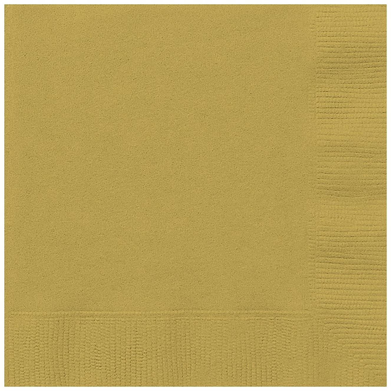 Gold Beverage Napkins, 50ct