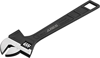 ARES 79006-12-Inch Hammer Head Adjustable Wrench - 1 1/2-Inch Jaw Capacity - Chrome Vanadium Steel Construction - Flat Top Hammer Face