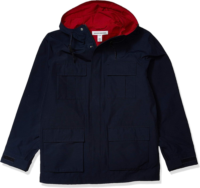 Essentials Men's Lightweight Mountain Parka Jacket: Clothing