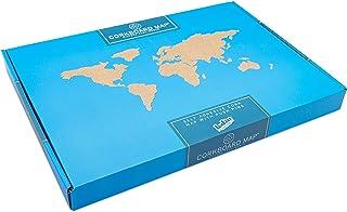 Luckies of London - Tablero de corcho con diseño de mapamundi