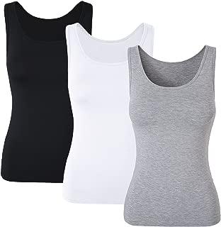 Women Comfy Built-in Shelf Bra Tanks Stretch Cami Activewear 1/3Pack