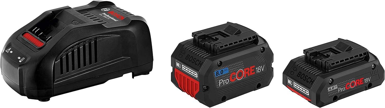 Bosch Professional 1600A01BA8 Batería 4.0 ProCORE18V 8.0 Ah + Cargador GAL 1880 CV, Azul, 18 V