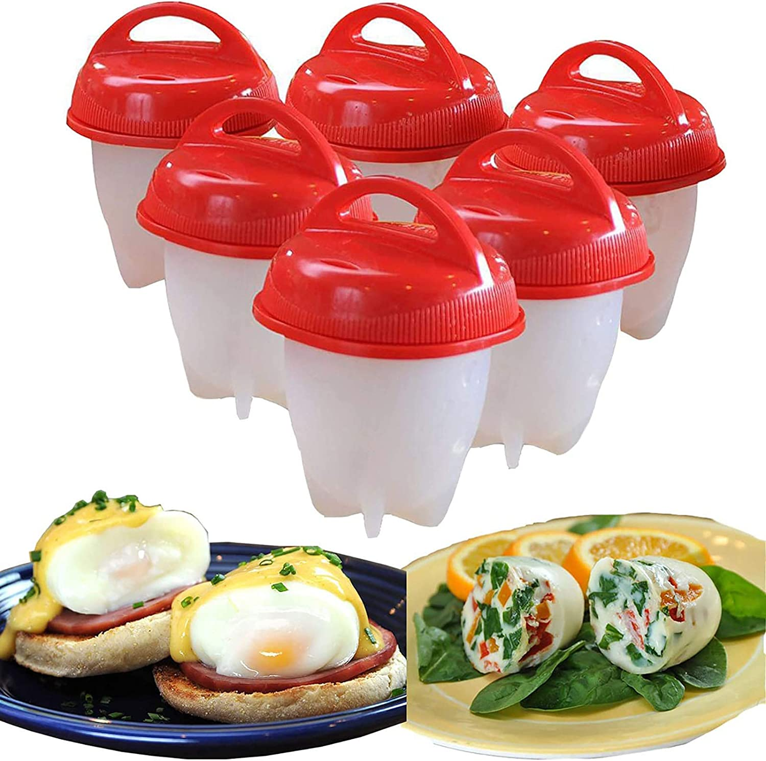 Egg outlet Cooker New Orleans Mall 6 Pcs BPA Free Rapid Non Silicone Boiler E Stick