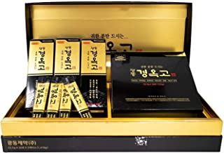 Kwang-Dong Kyung-Ok-Go Korean Nutritious Ginseng Tonic Individual Stick Pouches Gift Set (23.5g x 60 Stick Pouches) [광동제약 경옥고] + Korean Mulberry Paper HANJI Card