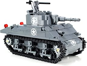 Battle Brick Custom M4 Sherman Tank World War 2 Complete Hand Sorted Set