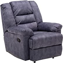 Zoy Leamon Fabric Recliner, Blue, H77 x W87 x D90 cm