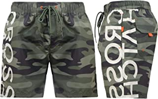 Crosshatch Mens Designer Camo Swimming Shorts Army Beach Swim Mesh Lined Trunks