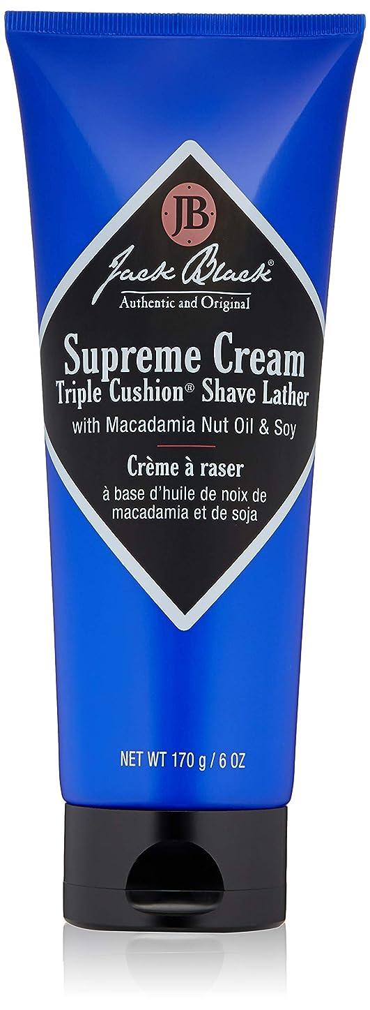 パンチサイレン志すジャックブラック Supreme Cream Triple Cushion Shave Lather 177g/6oz並行輸入品