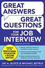 Great Answers, Great Questions For Your Job Interview, 2nd Edition best Job Interview Books