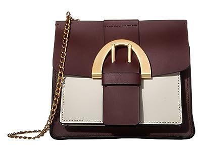 ZAC Zac Posen Biba Buckle Crossbody Color Block (Vino) Handbags