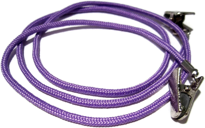 ATLanyards Medium Purple Paracord Clip Eyeglass Chain, PICK YOUR