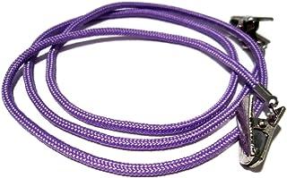 ATLanyards Medium Purple Paracord Eyeglass Holder with Clips, Eyeglass Cord, Clips 352