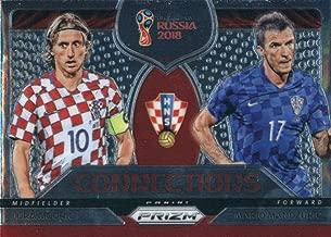 2018 Panini Prizm Connections #5 Luka Modric/Mario Mandzukic Croatia Soccer Futbol World Cup Russia Card