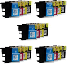 20 XL Compatibles Brother LC1100 / LC985 / LC980 Cartuchos de tinta para DCP-J125 DCP-J315W DCP-J515W MFC-J220 MFC-J265W MFC-J410 MFC-J415W MFC-J515W DCP-145C DCP-163C DCP-165C DCP-167C DCP-185C DCP-195C DCP-197C DCP-365CN DCP-373CW DCP-375CW DCP-377CW DCP-383C DCP-385C DCP-387C DCP-395CN DCP-585CW DCP-6690CN DCP-6690CW DCP-J715W MFC-250C 255CW 257CW 290C 295CN 297C 490CW 5490CN 5890CN 5895CW 6490CW 670CD 670CDW 6890CDW 790CW 795CW 930CDN 990CW J615W | Alta Capacidad