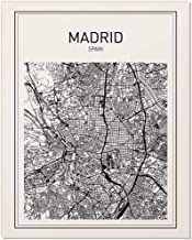 madrid map poster