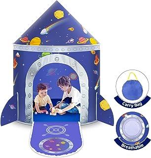Lektält för barn, rymdtält för barn pop-up tält prins slott hus palats tält speltält med bärväska bärbar leksak jul födels...