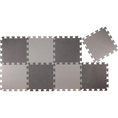 CBジャパン ジョイントマット(JOINTMAT) 厚め 12mm カラーマット セサミ 30×30cm 8枚組