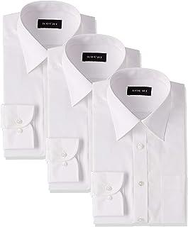 [アオキ] ワイシャツ 3枚セット レギュラーカラー【形態安定/長袖/定番/抗菌防臭加工/ビジネス/就活/冠婚葬祭】 ANET-S01 メンズ ホワイト