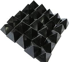 WholesaleGemShop Beautiful Lot Of 10 Black Tourmaline Gemstone Pyramids Crystal Reiki Vaastu Healing