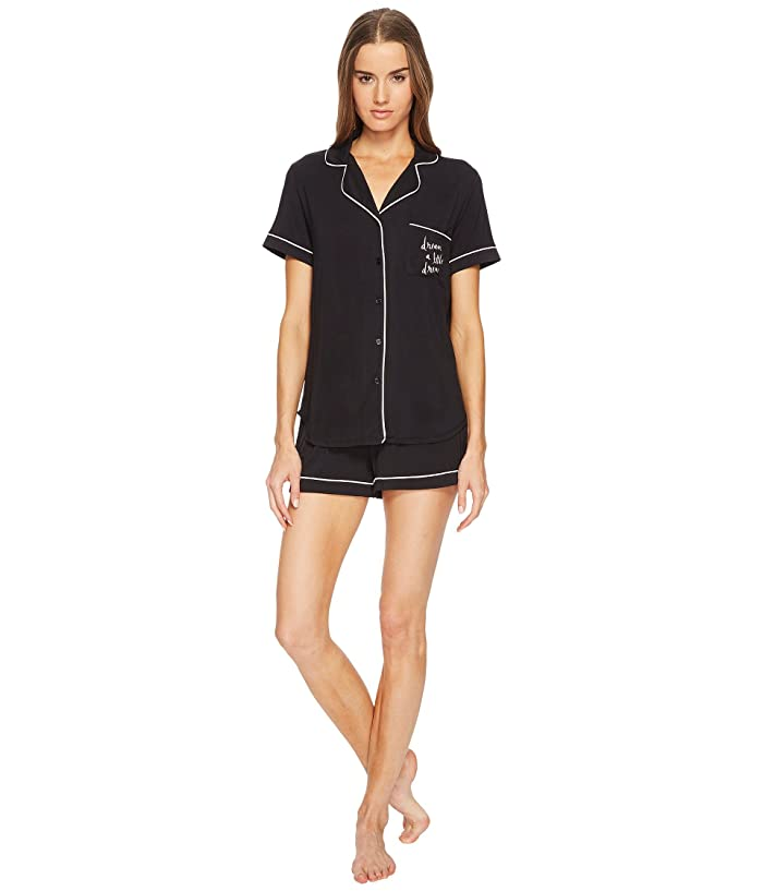 Kate Spade New York Dream A Little Dream Short Pajama Set (Black) Women