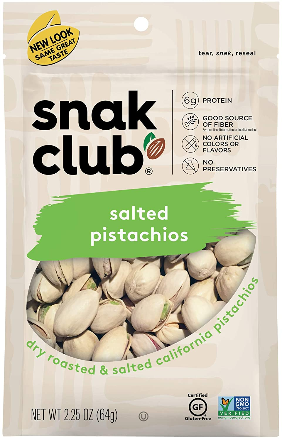 Snak Club Seattle Mall All Natural Financial sales sale Salted Gluten Pistachios 2 Free Non-GMO