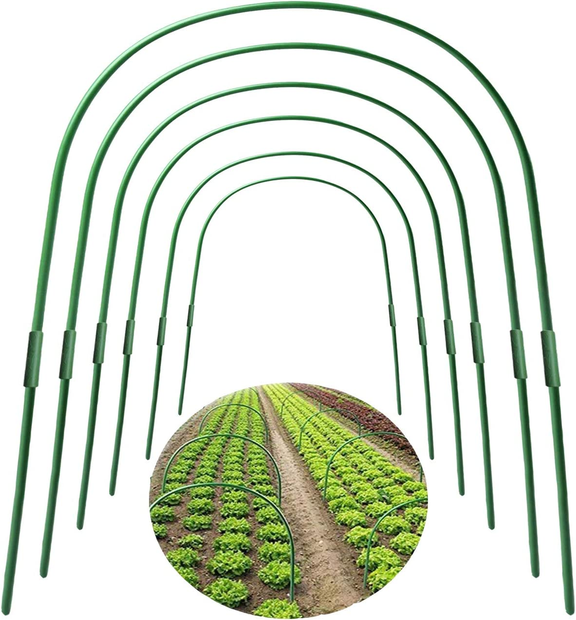 F.O.T GreenhouseHoops 6PcsRust-Free GrowTunnelS Outlet ☆ Free Shipping Fresno Mall