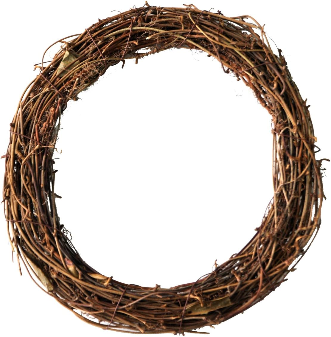 Ougual DIY Crafts Natural Grapevine Wreaths (8 Inch, 4 Pack)