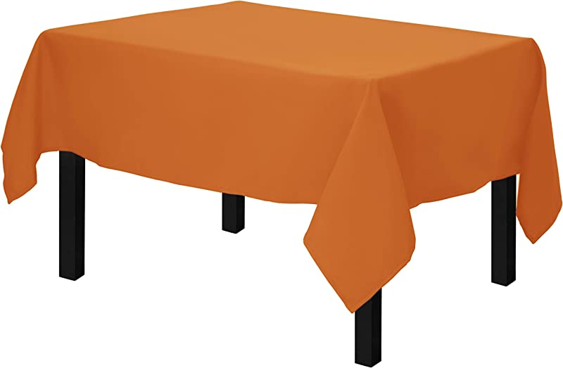Gee Di Moda Square Tablecloth 52 X 52 Inch Orange Square Table Cloth For Square Or Round Tables In Washable Polyester Great For Buffet Table Parties Holiday Dinner Wedding More