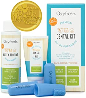 Oxyfresh Premium Pet Dental Kit from Fight Bad Breath in Dogs & Cats - Easy Safe & Effective Solution - Travel Size - Unfl...