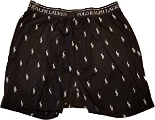 Men's, 100% Soft Cotton Jersey, Wicking Knit Boxer Shorts, with Allover Pony Player Print