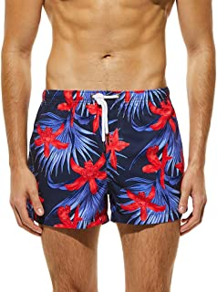 Men's Quick Dry Swim Trunks Bathing Suit Beach Shorts with Pockets
