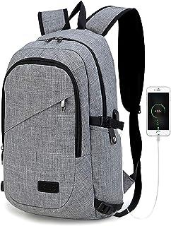 Kono Mochila Portatil para Hombre con Puerto de Carga Externa USB para Macbook y Netbook Negocio-35L (Gris)