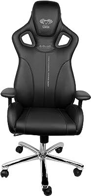 E-Blue Cobra EEC308BK - Silla de oficina y para gaming, piel sinté