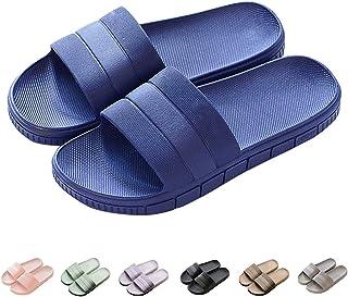 Zapatillas Pantuflas de Estar por casa de Hombre & Mujer & Pareja, Tira Ancha, Sandalia Tipo Chancla Verano