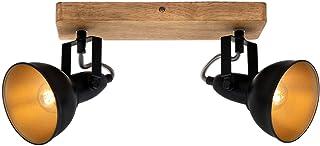 Briloner Leuchten - Luminaire à spots, spot plafonnier rétro, éclairage plafonnier vintage, spots pivotants et orientable...