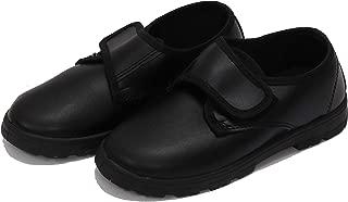 Kleitos Boys School Derby Black Velcro Closure Shoes
