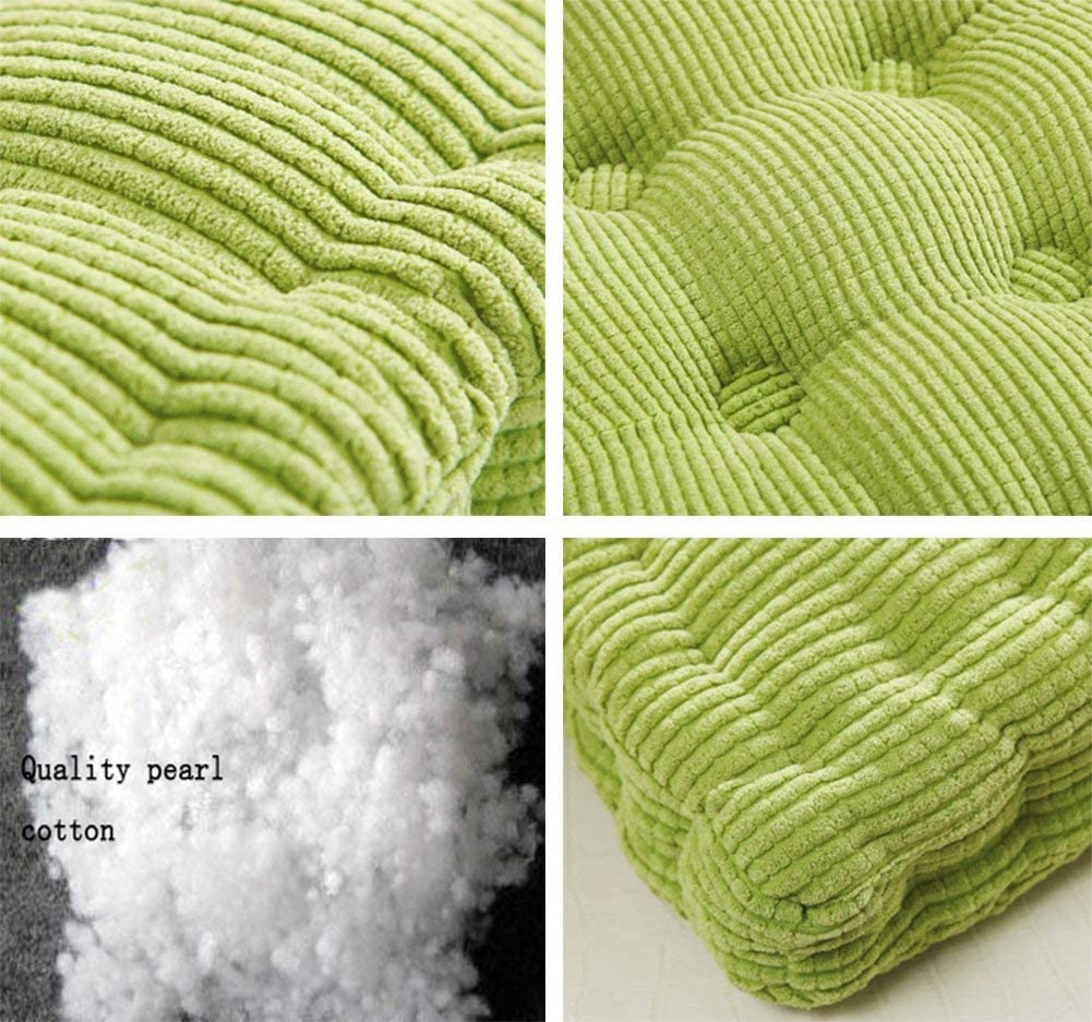 NOVWANG Square Floor Cushionfor Home Chair Pillow Seat Cushion Office Pad Meditation Yoga Futon,Grass Green,19 by 19inches