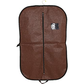 Kuber Industries Emboss Non-Woven Foldable Blazer Cover, Brown (CTKTC1850)