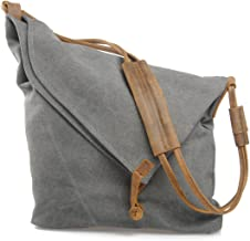 Estarer Damentasche Canvas Damen Umhängetasche Schultertasche Messenger Tasche Grau