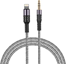 MFI Certified Lightning to 3.5MM Car Audio Cable Male Aux Cord Compatible with iPhone XR/X/8/7/6/6s Plus/SE/5c/5s Home Stereo Headphones Adapter 5FT