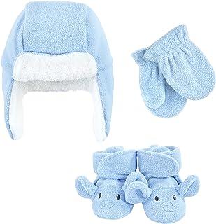 Hudson Baby Unisex czapka chwytakowa dla dzieci, zestaw rękawic i butów, niebieski słoń, 12-18 miesięcy