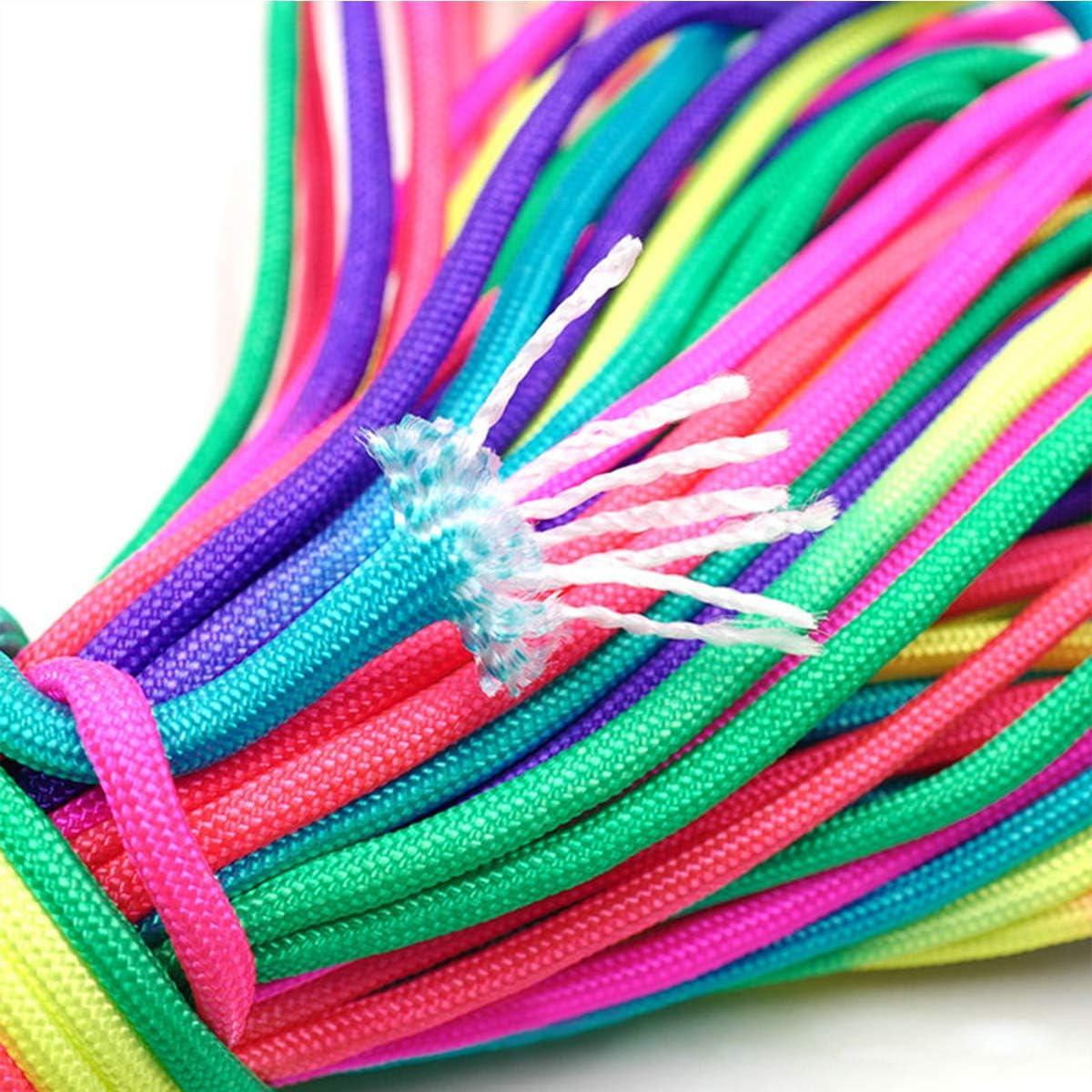 BOROLA 7 Strand Paracord Rope,Colorful Rainbow Cord,101 Feet