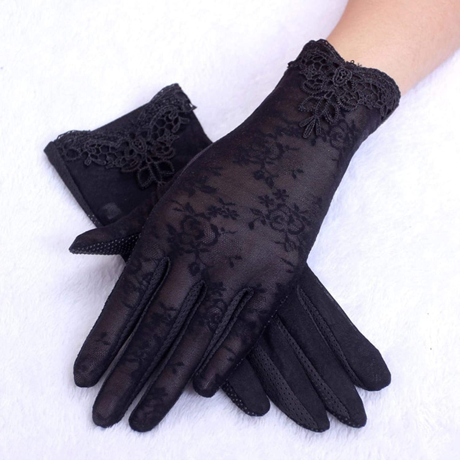 Winter gloves for women Summer UV-Proof Bicycle Driving Gloves Outdoor Warm female Gloves Lace gloves