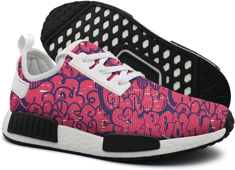 Ktyyuwwww Women colorful New Graffiti Wall Art Funny Sports Running shoes