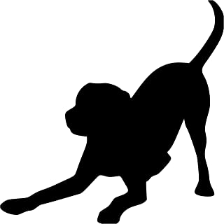 """Minglewood Trading White - Set of Two (2) Playful Labrador Retriever 3"""" x 3"""" Vinyl Decal Stickers -Lab Puppy Dog Rescue Adopt- 20 Color Options"""